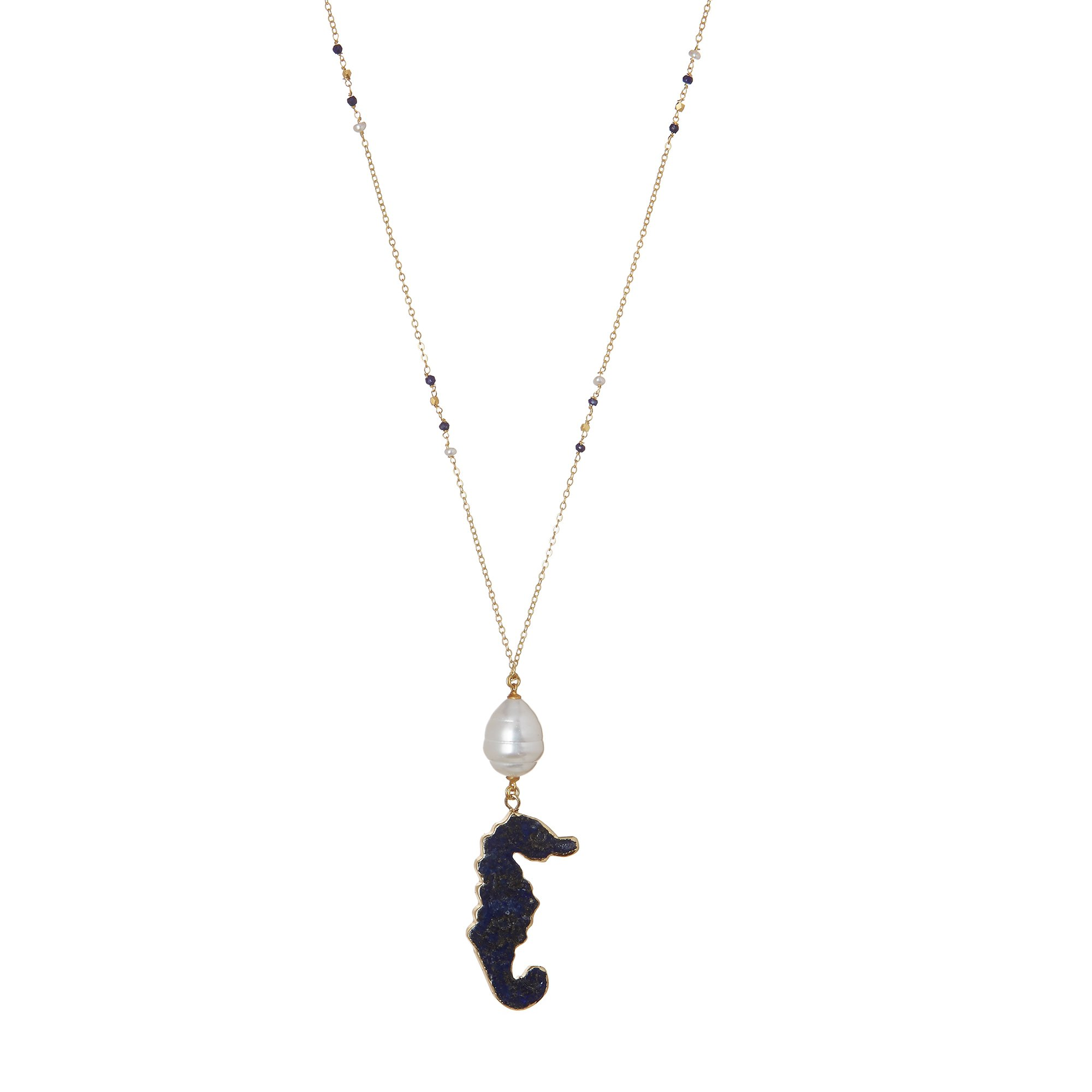 crystal link tier graceful chain delicate swarovski beau necklace jewelry simple clara seahorse