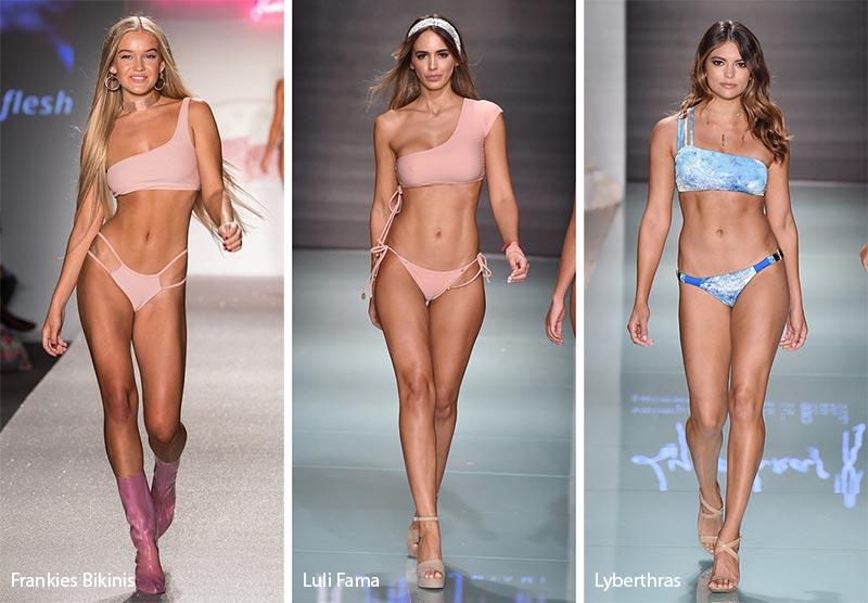 1de7849dfd Lybethras showed a one-shoulder bikini with a few straps as an accent