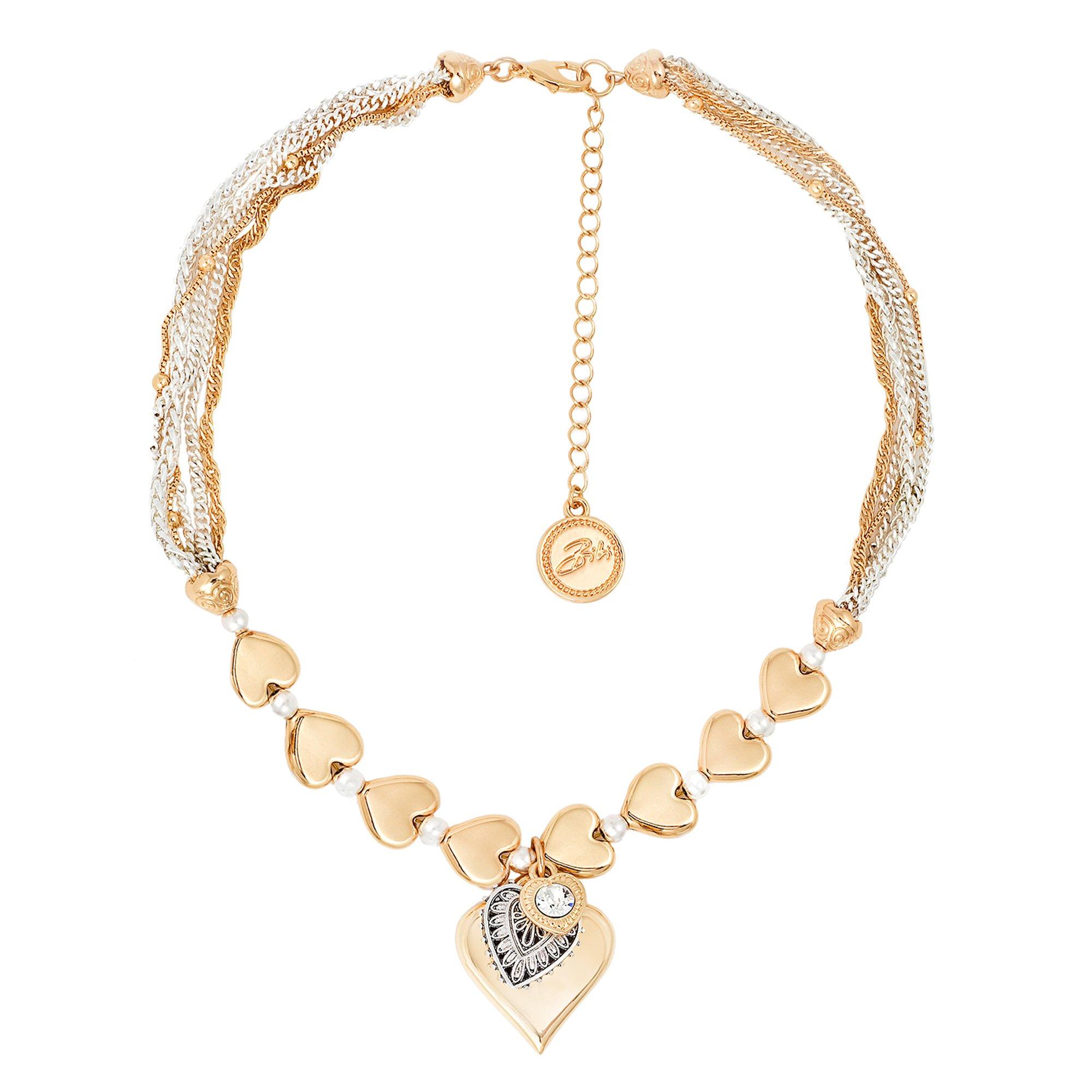 Gold Heart Charm Necklace - Diamond Beach